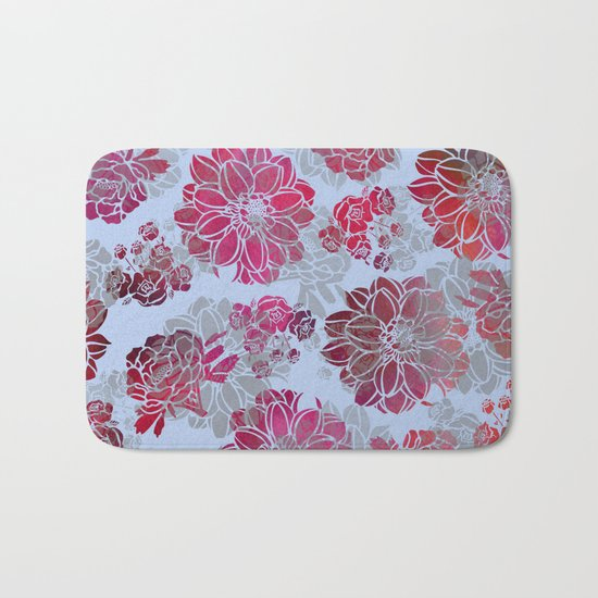 Flower Pattern Design Bath Mat