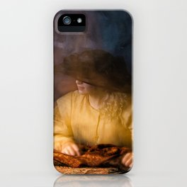 Girl in Rembrandt light iPhone Case