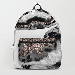 Yin Yang Agate Glitter Glam #1 #gem #decor #art #society6 Backpack