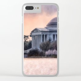A Cherry Blossom Dawn Clear iPhone Case