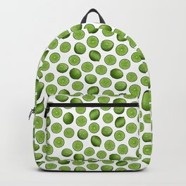 Dancing Green Limes on White Backpack