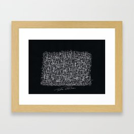 My brain from GoogleMaps Framed Art Print