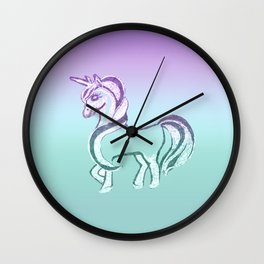 Unicorn #2 #drawing #decor #art #society6 Wall Clock
