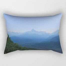The Sun Rises over the Himalayas Rectangular Pillow