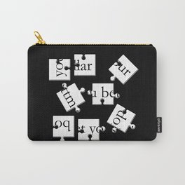 bottom dollar puzzle - black Carry-All Pouch