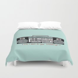 Stereo type Nonconforming | Casette Player | Radio | Hand-drawn Stereo Duvet Cover