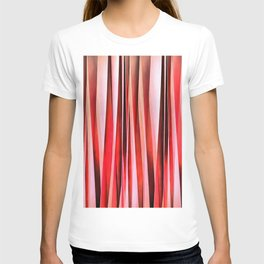Red Adventure Striped Abstract Pattern T-shirt
