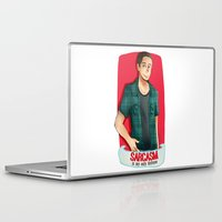 sarcasm Laptop & iPad Skins featuring Sarcasm by IanPinkis