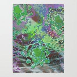 Green Lotus Falling Poster