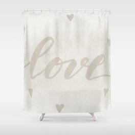 Valentine's Day Watercolor Love – white Shower Curtain