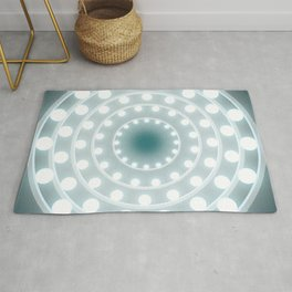 Dazzling circle lights Rug