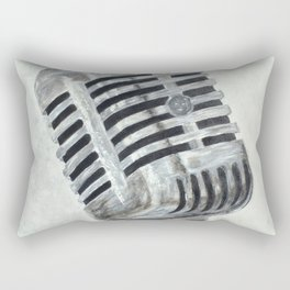 Vintage Microphone Rectangular Pillow
