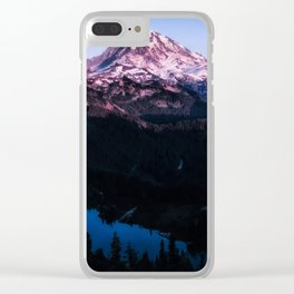 Mountain Sunset Clear iPhone Case