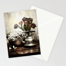 Still - Kettle And Flowers Stationery Cards