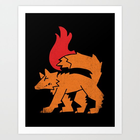Fox Fire Art Print
