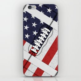 4th of July American Football Fanatic iPhone Skin