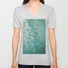 Surfing in the Ocean Unisex V-Neck