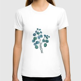Chinese money plant watercolor T-shirt
