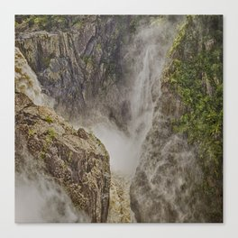 Beautiful waterfall in the rainforest Canvas Print