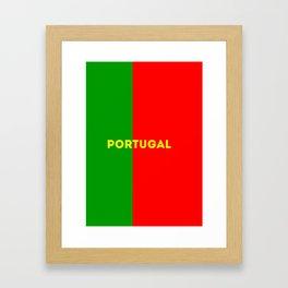 World Cup: Portugal Framed Art Print