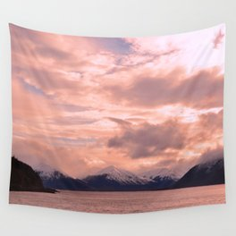Rose Quartz Over Hope Valley Wall Tapestry