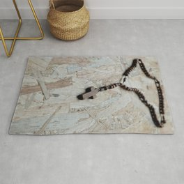 Wooden rosary Rug