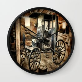 Vintage Horse Drawn Carriage Wall Clock