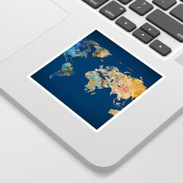 World Map 11 Sticker