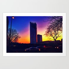 Sunset-The Razor Art Print