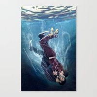 underwater Canvas Prints featuring Underwater by MGNemesi