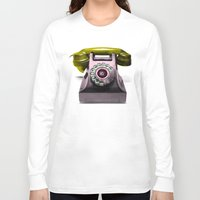 marylin monroe Long Sleeve T-shirts featuring Call Marylin by KEFLIONE