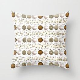Modern white faux gold sequins geometrical dots stripes Throw Pillow