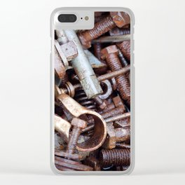 old rustry screw,nuts and bolt Clear iPhone Case
