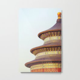 The Temple of Heaven, China Metal Print