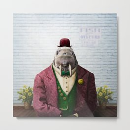 Portrait of Wendell Walrus Metal Print