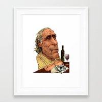 bukowski Framed Art Prints featuring Bukowski by C.M. Duffy