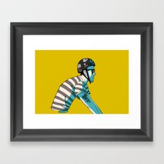 MIKE'S BIKE Framed Art Print