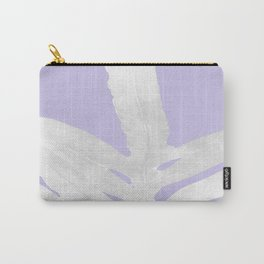 Green Fern on Lavender Inverted Carry-All Pouch