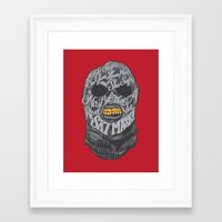 dumb and dumber Framed Art Prints featuring A Real Nice Ski Mask - Dumb and Dumber by Panda McFan