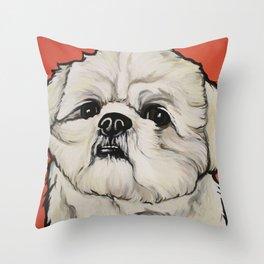 Waffles the Shih Tzu Throw Pillow