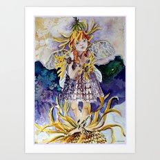 Daisy Fairy Art Print