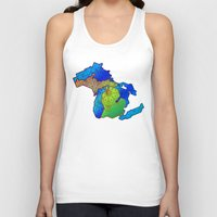 michigan Tank Tops featuring Michigan by Dusty Goods