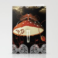 moulin rouge Stationery Cards featuring Rouge by zazacadabra