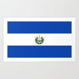 El Salvador Flag Art Print