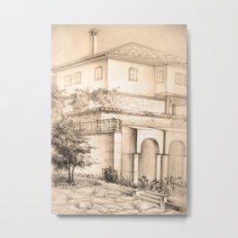 Old house | sketch Metal Print