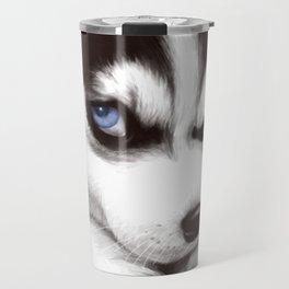 CUTE--HUSKY Travel Mug