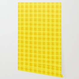 Citrus Glow Plaid Wallpaper