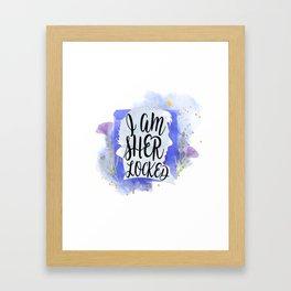 i am sher locked Framed Art Print