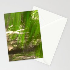 Green Feathers Stationery Cards