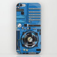 computer iPhone & iPod Skins featuring Computer Motherboard by Nick's Emporium Gallery